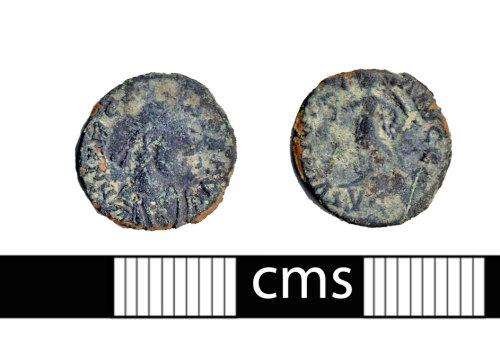 BERK-9B90F2: Roman coin: Nummus fo Arcadius