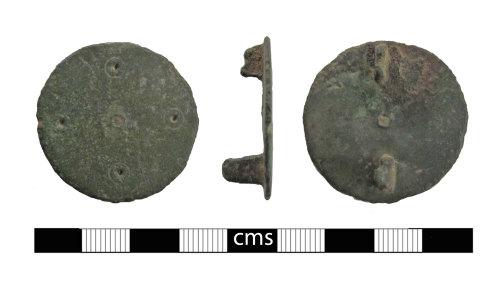 BERK-9E9A67: Early-medieval brooch: Disc brooch