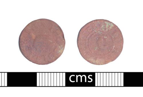 BERK-64E5F5: Post-medieval token: Witney trade token