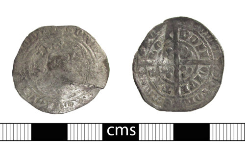 BERK-4FCF10: Medieval coin: Groat of Edward III