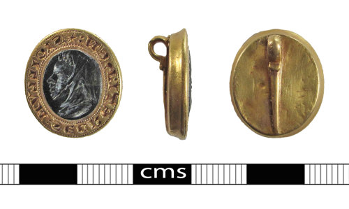 BERK-2A91CA: Medieval seal Matrix: Gold seal matrix