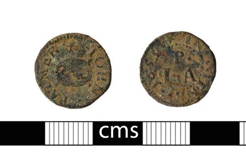 BERK-68484E: Post-medieval token: Witney trade token