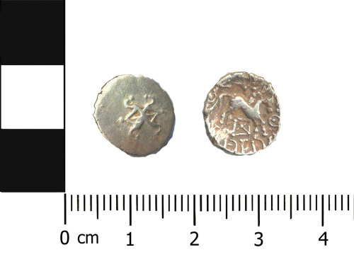 BERK-142529: Iron Age coin: Addedomaros quarter stater