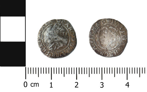 BERK-6AAC0E: Post-medieval coin: Halfgroat of Charles I