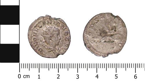 BERK-ADD1EE: Roman coin: Radiate of Valerian II