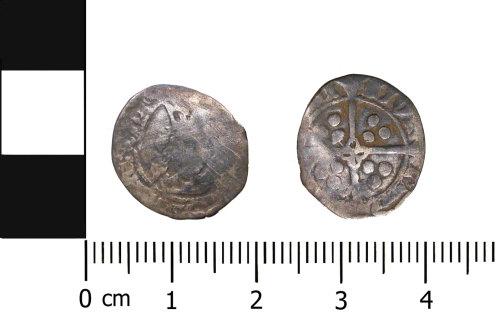 BERK-8C4F9E: Medieval coin: Halfpenny of Edward IV