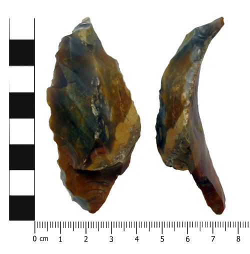 OXON-7D1411: Mesolithic debitage: Plunging flake