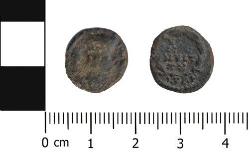 OXON-529C72: Roman coin: Nummus of Gratian