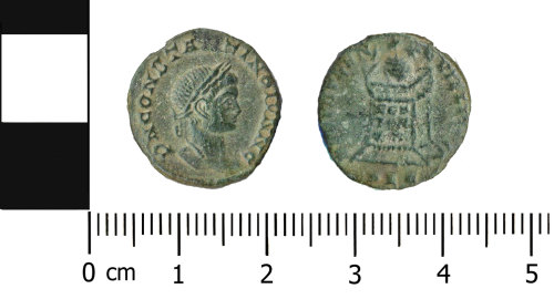OXON-EEA3E8: Roman coin: Nummus of Constantine II