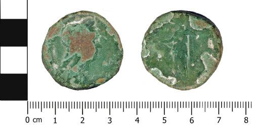 OXON-8D0D39: Roman coin: Sestertius of Sabina