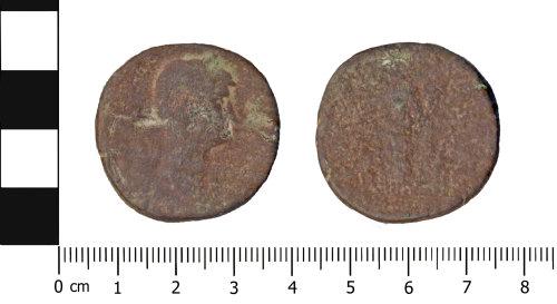 OXON-8D32CC: Roman coin: Sestertius of Hadrian