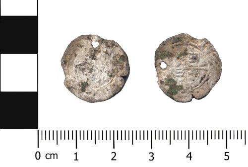 OXON-B18EC8: Post-medieval coin: Halfgroat of Elizabeth I