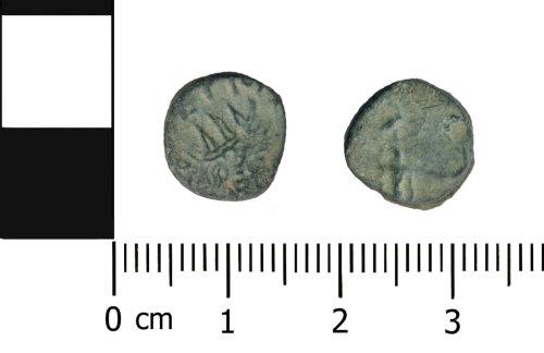 OXON-B43C9C: Roman coin: Barbarous radiate