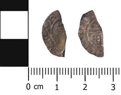 OXON-B4AF22: Medieval coin: Halfpenny of Henry II