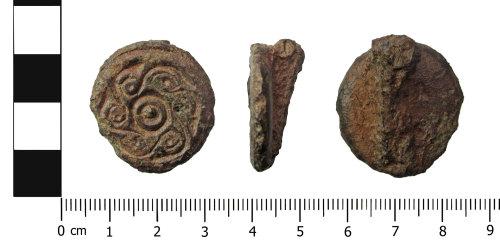 OXON-43560B: Early-medieval brooch: Saucer brooch