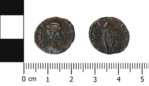 OXON-BB6AA3: Roman coin: Denarius of Julia Domna