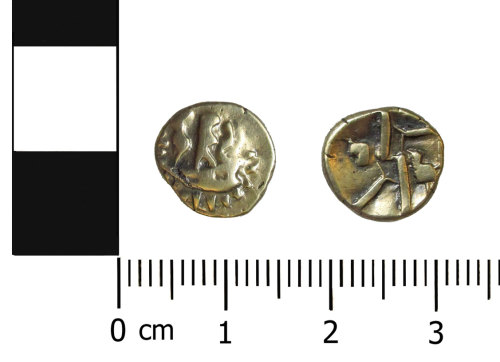 OXON-28DB93: Iron Age coin: Quarter stater of the Durotriges