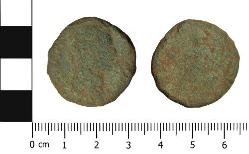 OXON-322A2D: Roman coin: Sestertius of Hadrian