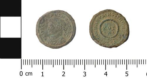 OXON-AEE243: Roman coin: Nummus of Crispus