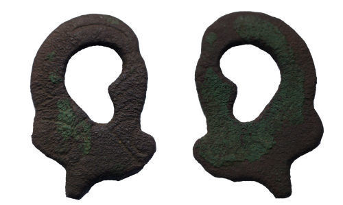 BERK-91C0F5: Early-medieval bridle fitting: Cheek piece