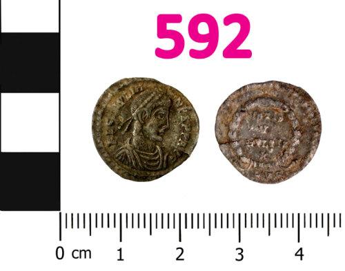 BERK-1B9272: Roman coin: Siliqua of Julian