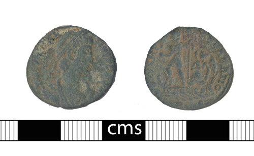 BERK-8BFD92: Roman coin: Nummus of Constantius II