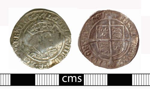 BERK-C67FC6: Post-medieval coin: Groat of Henry VIII