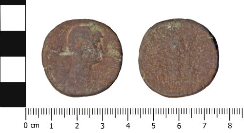 A resized image of Roman coin: Sestertius of Hadrian