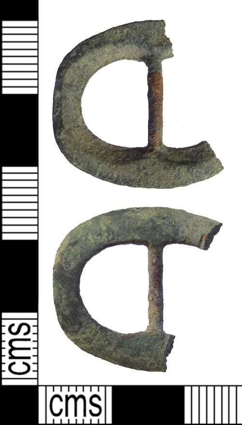 A resized image of post medieval buckle front and back