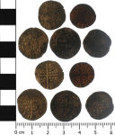 A resized image of medieval coins