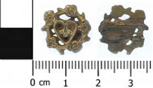 SWYOR-0E13B5: Medieval or post medieval hat badge
