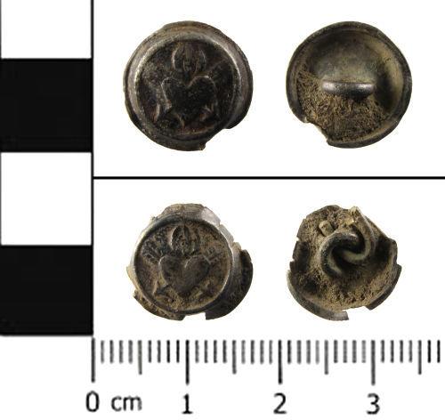 SWYOR-2A4ACD: Post Medieval silver cufflink