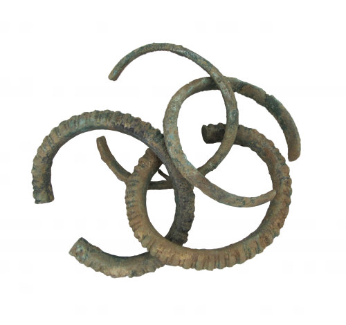 SWYOR-1494DB: Iron Age bracelets positioned roughly as found
