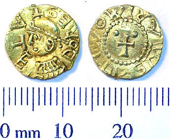 SWYOR-B502C5: Early Medieval coin; tremissis