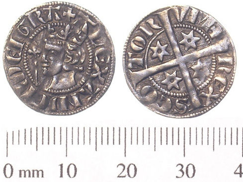 SWYOR-183EC0: Medieval coin; Scottish penny of Alexander III