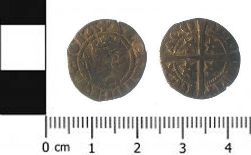 SWYOR-3F8805: coin; penny of Alexander III of Scotland