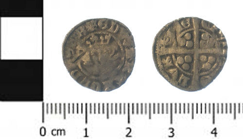 SWYOR-2177B2: Medieval coin; penny of Edward I