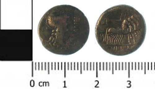 SWYOR-DF3773: Roman coin; republican denarius