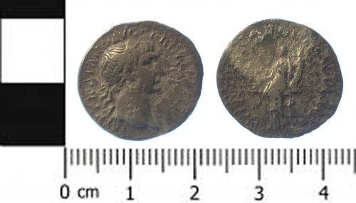 SWYOR-619827: Roman coin; denarius of Trajan