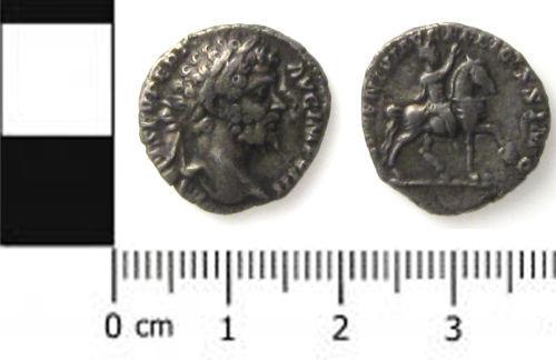 SWYOR-28BC52: Roman coin; denarius of Septimius Severus