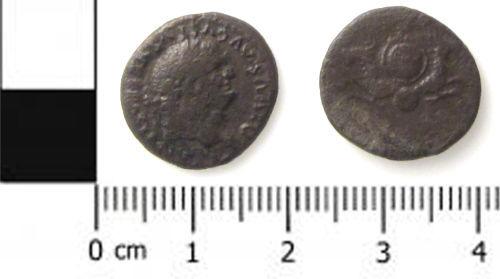SWYOR-2923E2: Roman coin; denarius of Titus