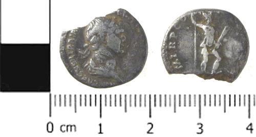 SWYOR-7A3297: Roman coin; denarius of Trajan