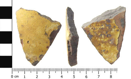 A resized image of Post Medieval ceramic vessel fragment