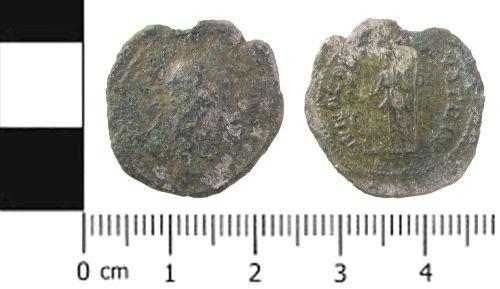 SWYOR-834B24: Roman coin; contemporary copy of a denarius of Severus Alexander
