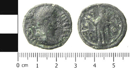 SWYOR-155C31: Roman coin; cast copy of a dupondius of British Association
