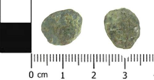 SWYOR-C98876: Roman coin; nummus possibly of Helena, PAX PVBLICA