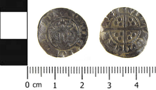 SWYOR-690B64: Medieval coin; penny of Edward I, Class 10ab1 / 9b1 mule