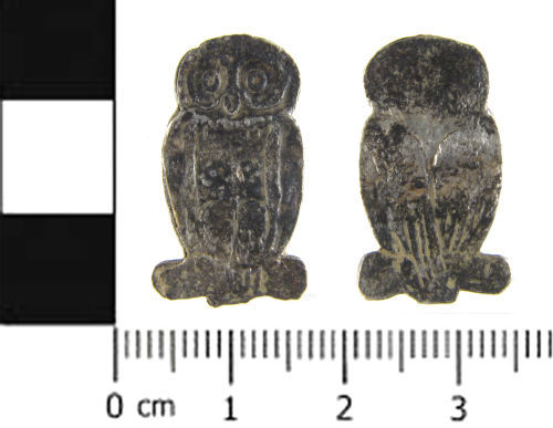 SWYOR-63B1E8: Post Medieval owl toy