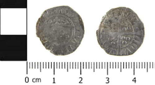A resized image of Medieval coin; penny of Edward I, Class 9b1