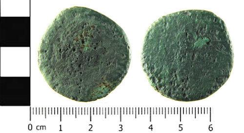SWYOR-6BACAC: Roman coin; sestertius of Faustina II or Lucilla